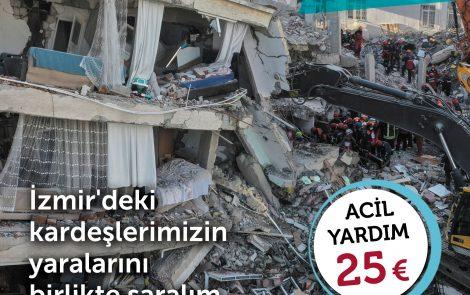 İzmir Depremi için Yardım