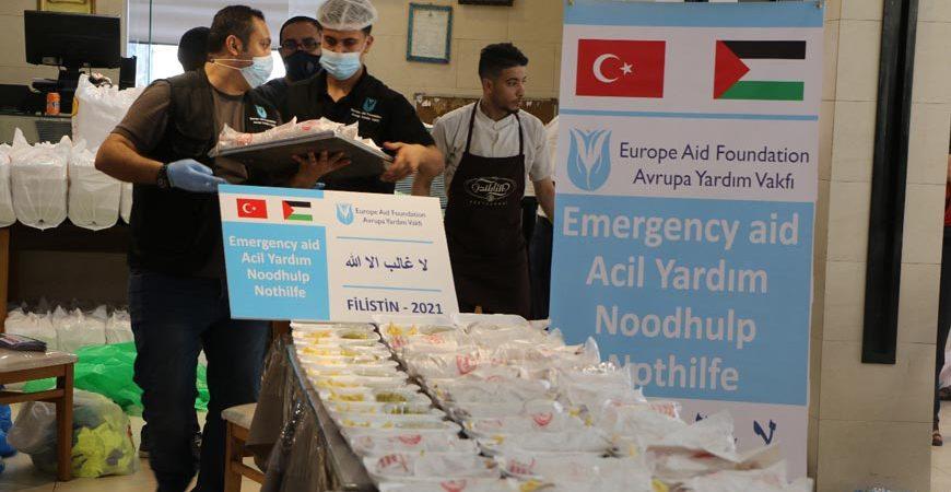 Filistin Gazze sıcak yemek yardımı