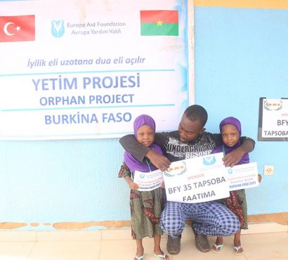 Burkina Fasolu Yetimlerimizin Yüzlerindeki Tebessüm Olduk